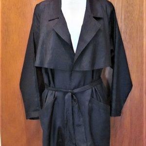 Stewart Jackets & Coats - Lightweight trench like, jacket, black , with belt